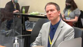 Derek Chauvin at his murder trial April 19, 2021