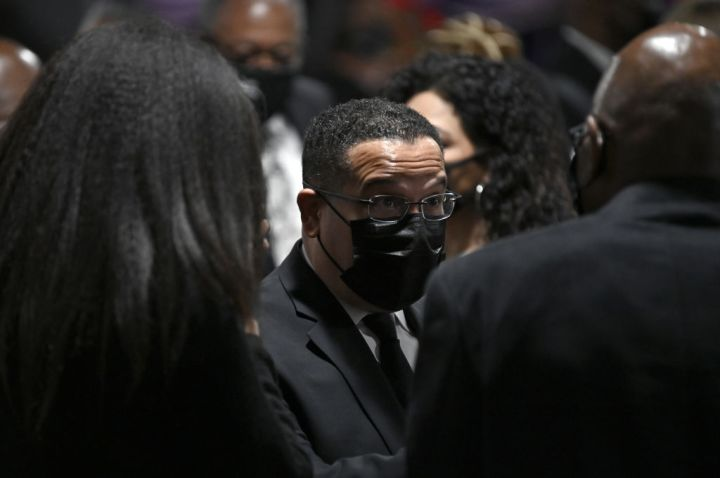 Minnesota Attorney General Keith Ellison attends funeral