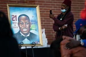 Candlelight Vigil Held For Ahmaud Arbery On The One Year Anniversary Of His Death