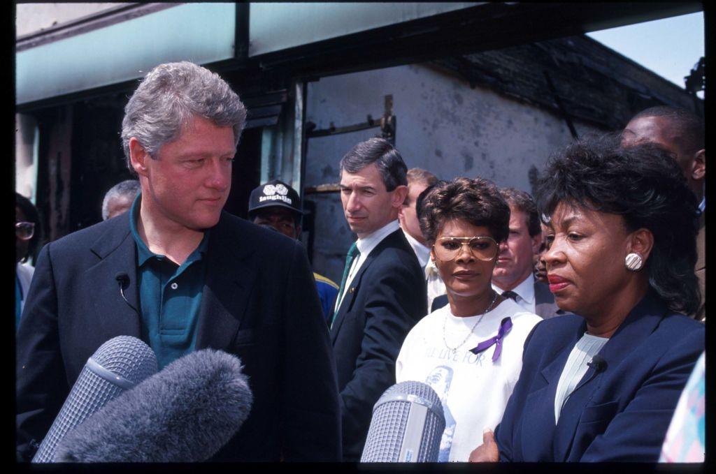 Clinton Visits Riot Ravaged Los Angeles
