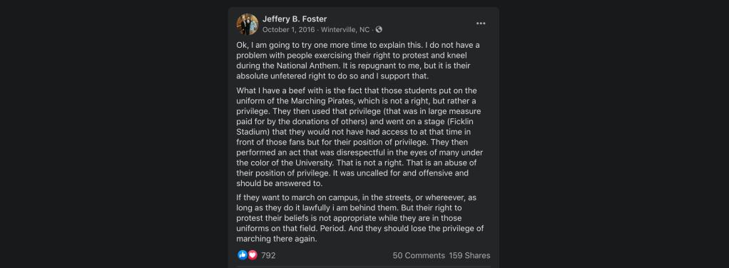 Judge Jeffery Foster Facebook posts