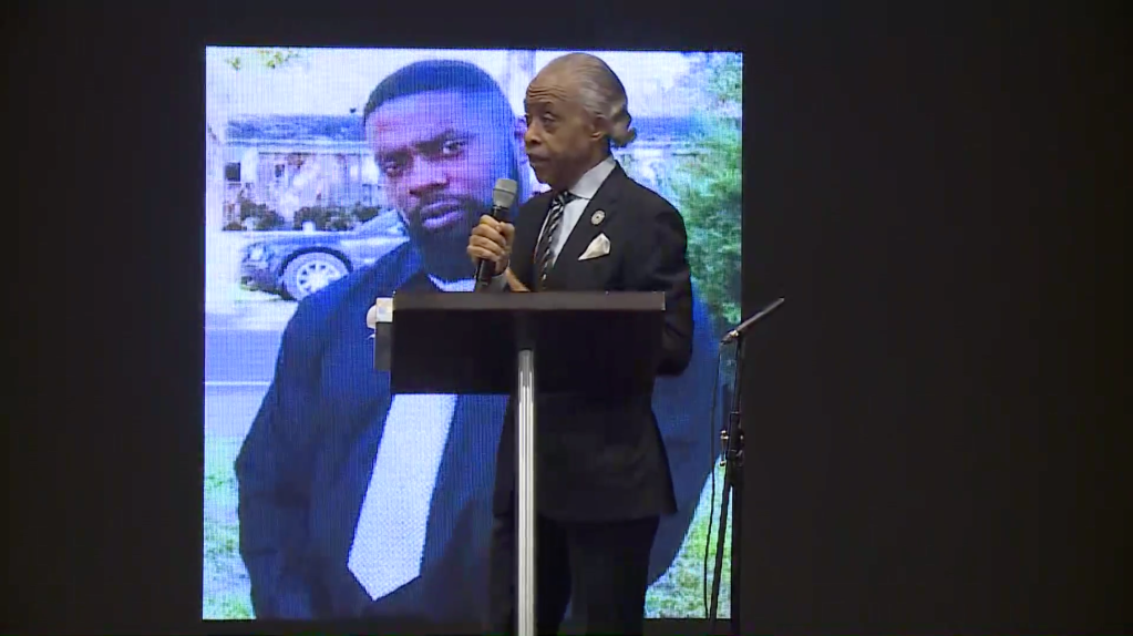 Al Sharpton at Andrew Brown Jr.'s funeral