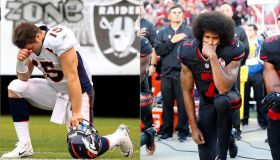 Tim Tebow and Colin Kaepernick kneeling