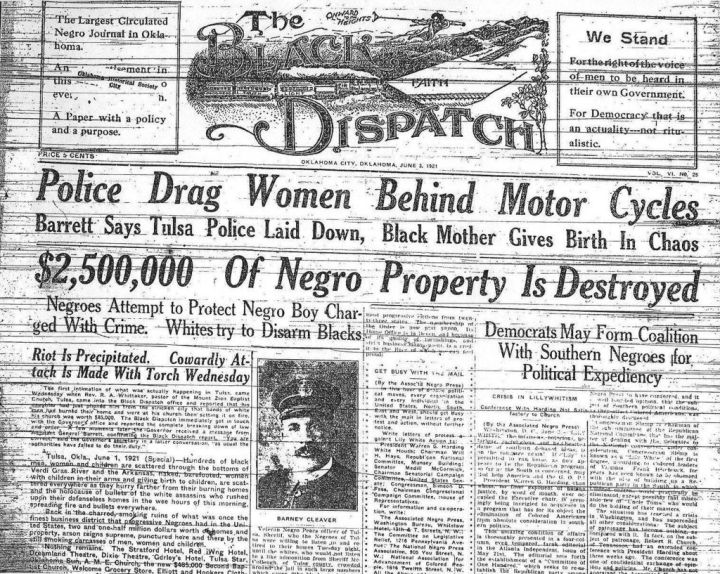 The Black Dispatch Front Page, June 1, 1921