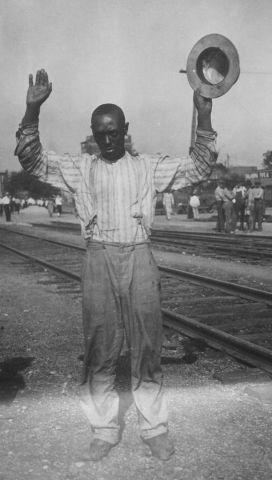 A Black Man Surrenders During The Tulsa Race Massacre