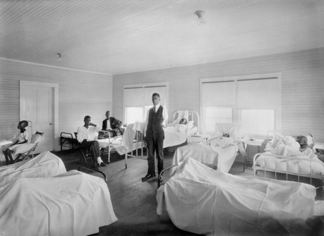Patients recovering from Effects of Race Riot of June 1st,, American Red Cross Hospital, Tulsa, Oklahoma, USA, American National Red Cross Photograph Collection, November 1921