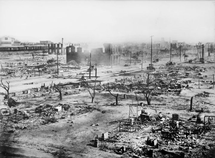 Ruins of Greenwood District after Race Riots in Tulsa