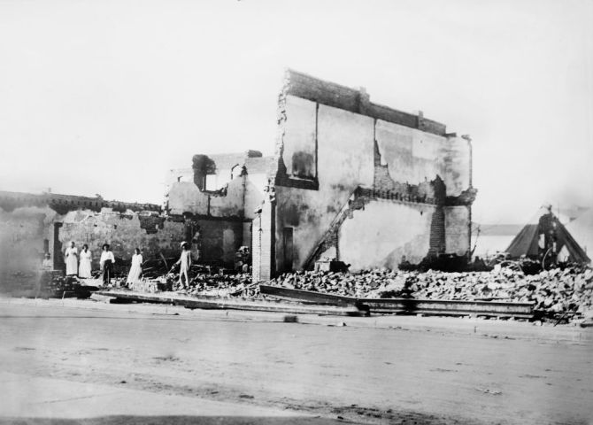 Woods Building after Race Riots, Tulsa, Oklahoma, USA, American National Red Cross Photograph Collection, June 1921