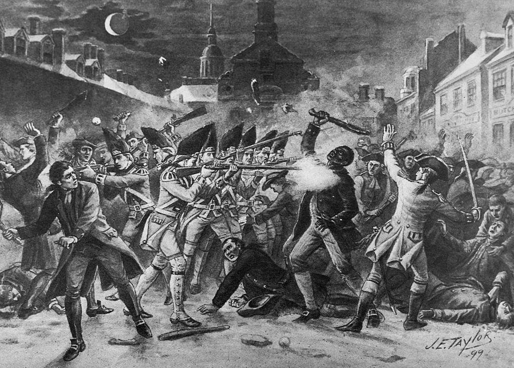 Death of Attucks, Boston Massacre by J.E. Taylor