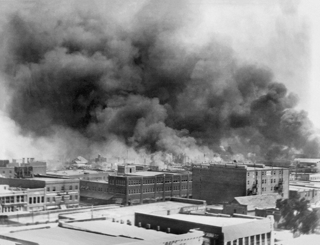 Billowing Smoke during Race Riots, Tulsa, Oklahoma, USA, Alvin C. Krupnick Co., June 1921