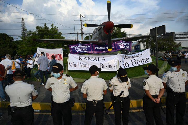 GUATEMALA-US-DIPLOMACY-POLITICS-MIGRATION-HARRIS-DEMONSTRATION
