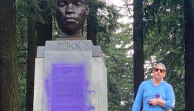Bust of York vandalized in Mt. Tabor Park, Portland, Oregon
