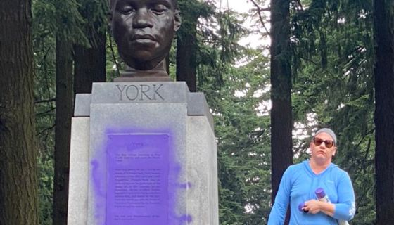 Video Shows White Woman Defacing Monument To Only Black Member Of Lewis And Clark  Expedition: 'F-ck You All!' | myv949.com