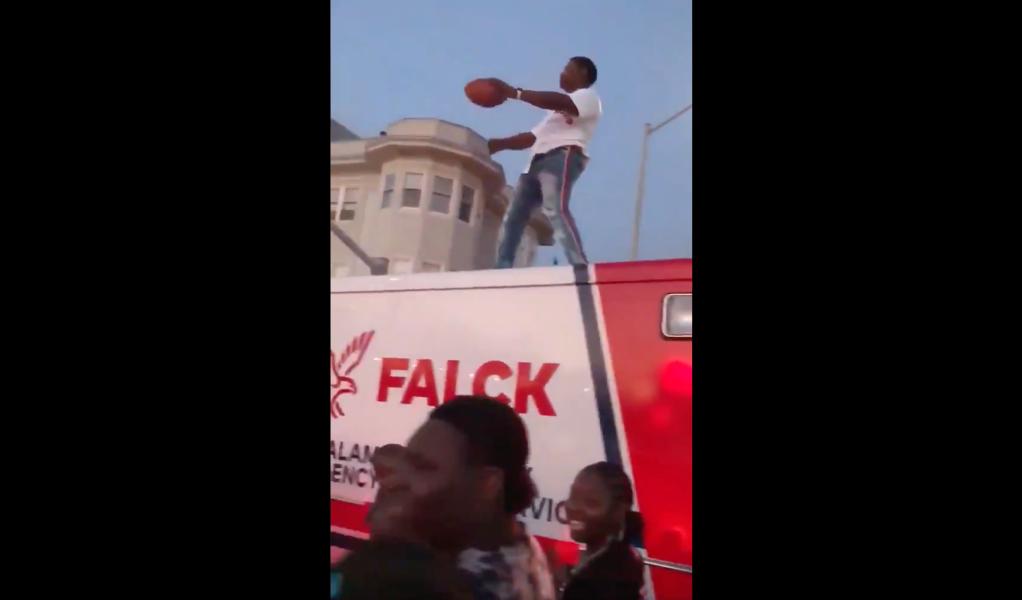 Juneteenth twerking on Oakland ambulance video