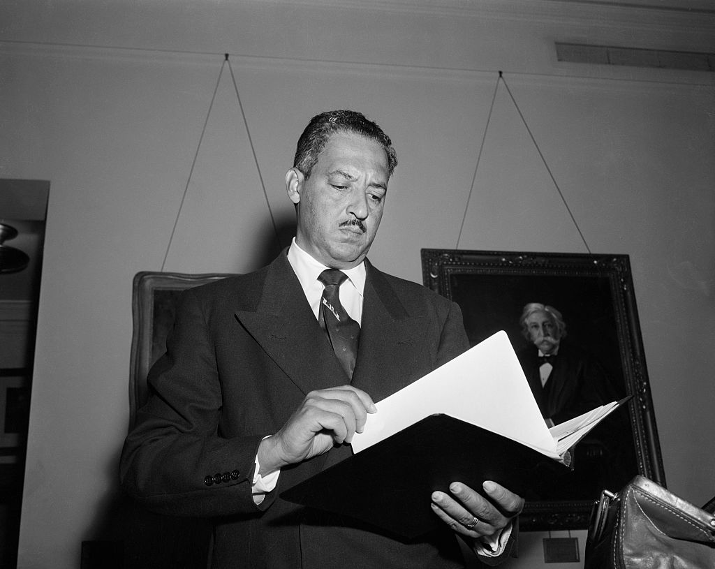 Thurgood Marshall Holding Book