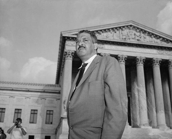 Thurgood Marshall Outside the Supreme Court