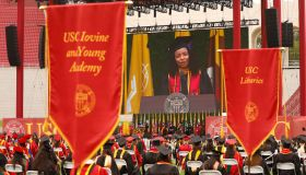 USCs 2021 Commencement at the Los Angeles Memorial Coliseum Friday May 14, 2021