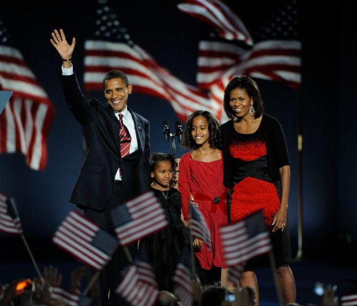 Obama Family, Election Night, 2008