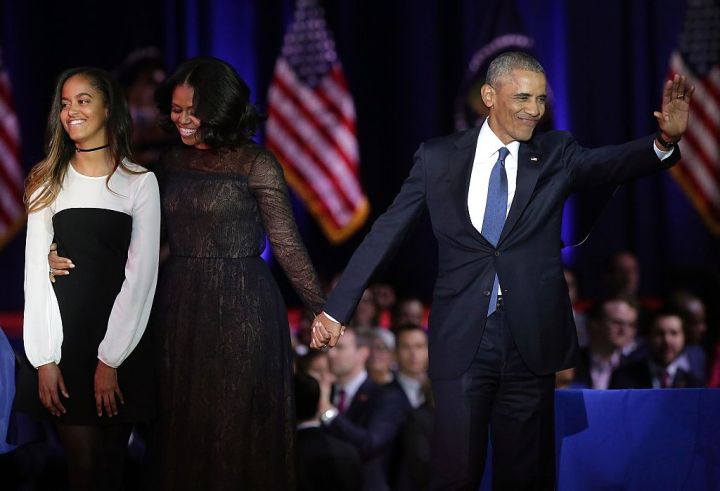 Obama Family, Obama's Farewell Address, 2017
