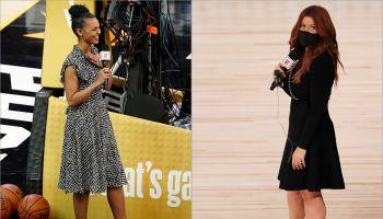 Malika Andrews and Rachel Nichols working the NBA playoffs
