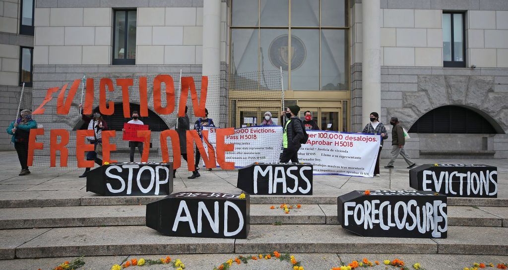 Demonstrators Call For Housing Stability Bill