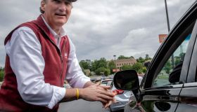 The Virginia GOP holds a drive through primary to select candidates for the 2021 general election, on May 08 in Annandale, VA.