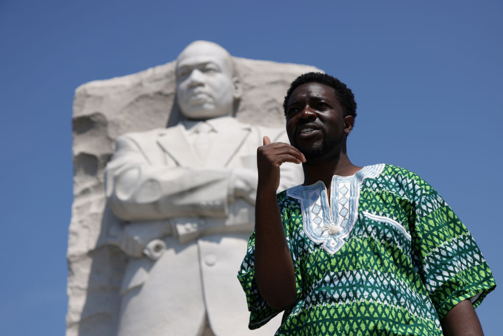Activists Join Freedom Friday March At MLK Memorial In Washington, DC