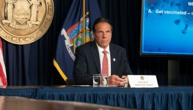 Governor Andrew Cuomo holds press briefing and makes...