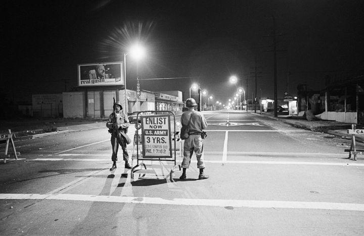 National Guardsmen in Watts