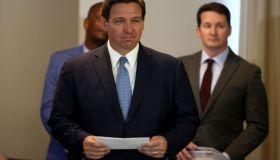 Florida Governor Ron DeSantis Holds News Conference In Surfside