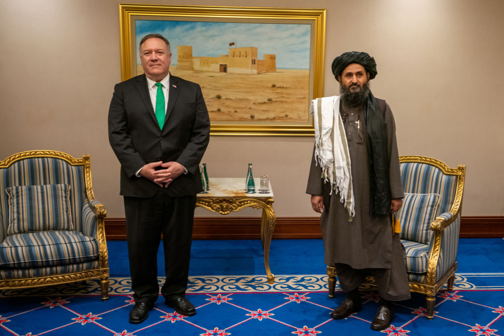 Pompeo Meets With the Taliban Delegation in Doha