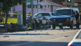 Three killed in a fiery crash in Burbank.