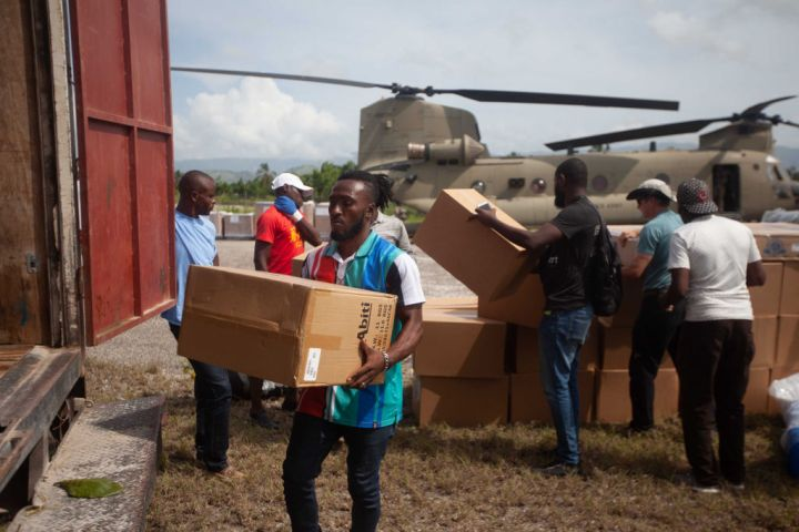 Humanitarian Aid Arrives In Haiti After 7.2 Quake And Tropical Storm