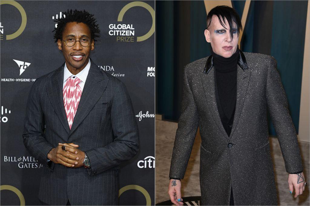 Raphael Saadiq and Marilyn Manson