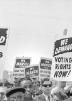 Protesters with Signs at March on Washington for Jobs and Freedom, Washington, D.C., USA, photo by Marion S. Trikosko, August 28, 1963