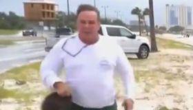 Gulfport, MS white man who ran up on Shaq Brewster live on MSNBC