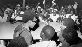 H. Rap Brown Leaving Prison with Cheering Supporters