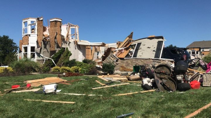 Hurricane Ida Brings A Tornado Through Mullica Hill , New Jersey