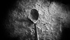 White powder with spoon like drug