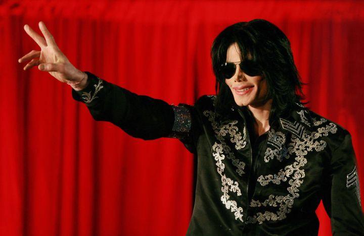 US popstar Michael Jackson addresses a p