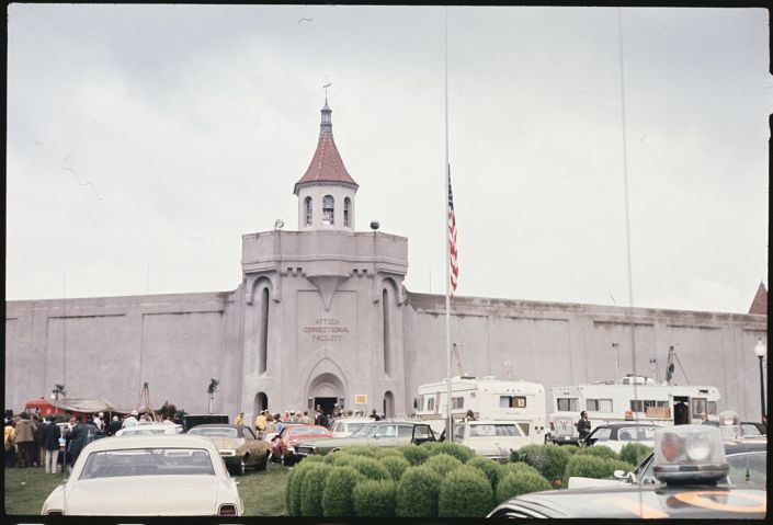 Flag at Half Staff at Correctional Facility