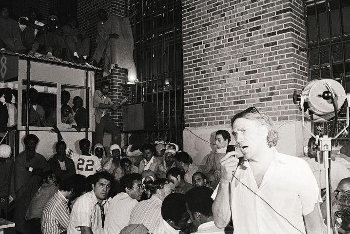 William Kunstler Addressing Prison Inmates