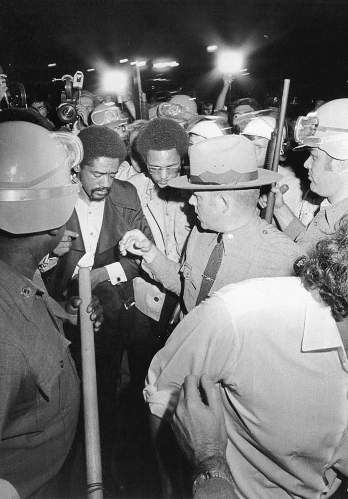 Bobby Seale Visits Attica State Correctional Facility