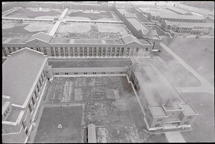 Aerial View of Attica Prison During Riots