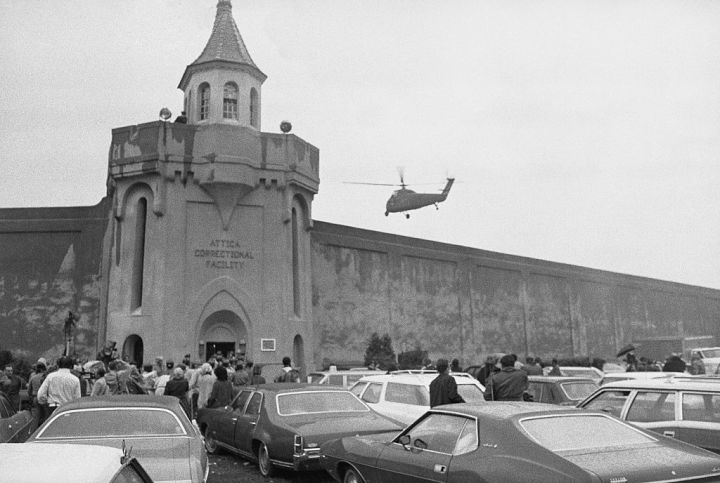 Helicopter Flying over Correctional Facility