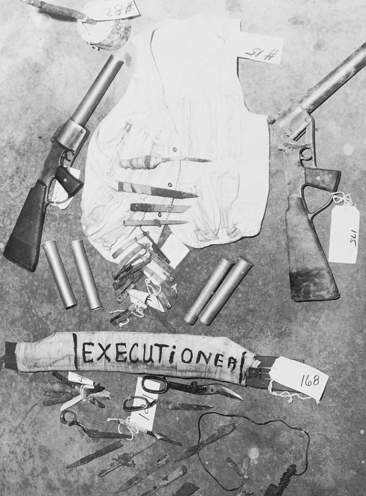 Paraphernalia of Attica Prison Rioters