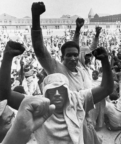 Rioting Inmates at Attica State Prison