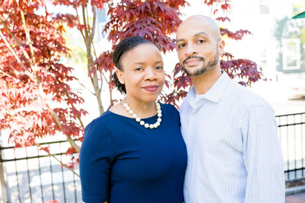 Reverend Manikka Bowman and Jeff Myers, Black couple racially profiled at Connors Farm apple orchard in Danvers, Massachusetts