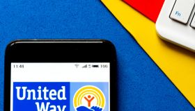 In this photo illustration a United Way of America logo seen...
