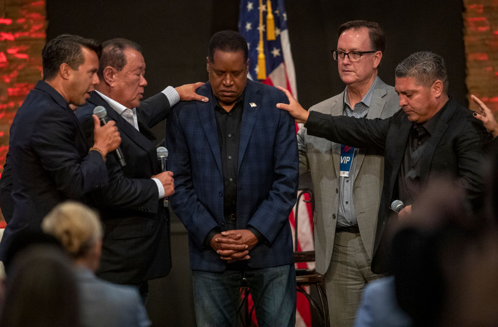 Larry Elder holds townhall meeting at New Season LA Church in Downey